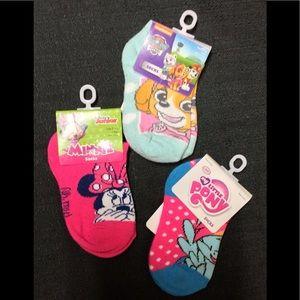 Girl's Socks Minnie My Little Pony Paw Patrol